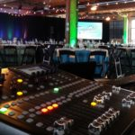 in-person event picture, audio mixer