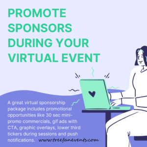 promote sponsors during your virtual event