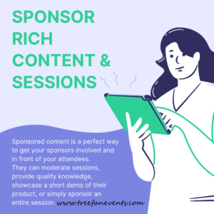 sponsor rich content and sessions