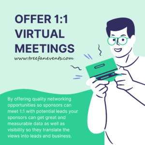 offer 1:1 virtual meetins