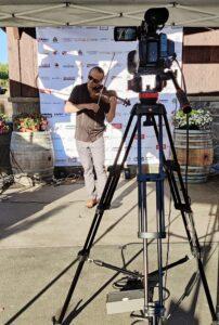 Concert Rock Violinist, Aaron Meyer of Pink Martini